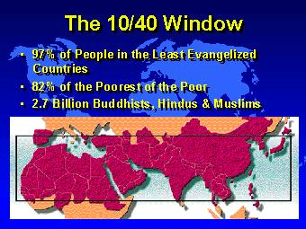 the 10 40 window